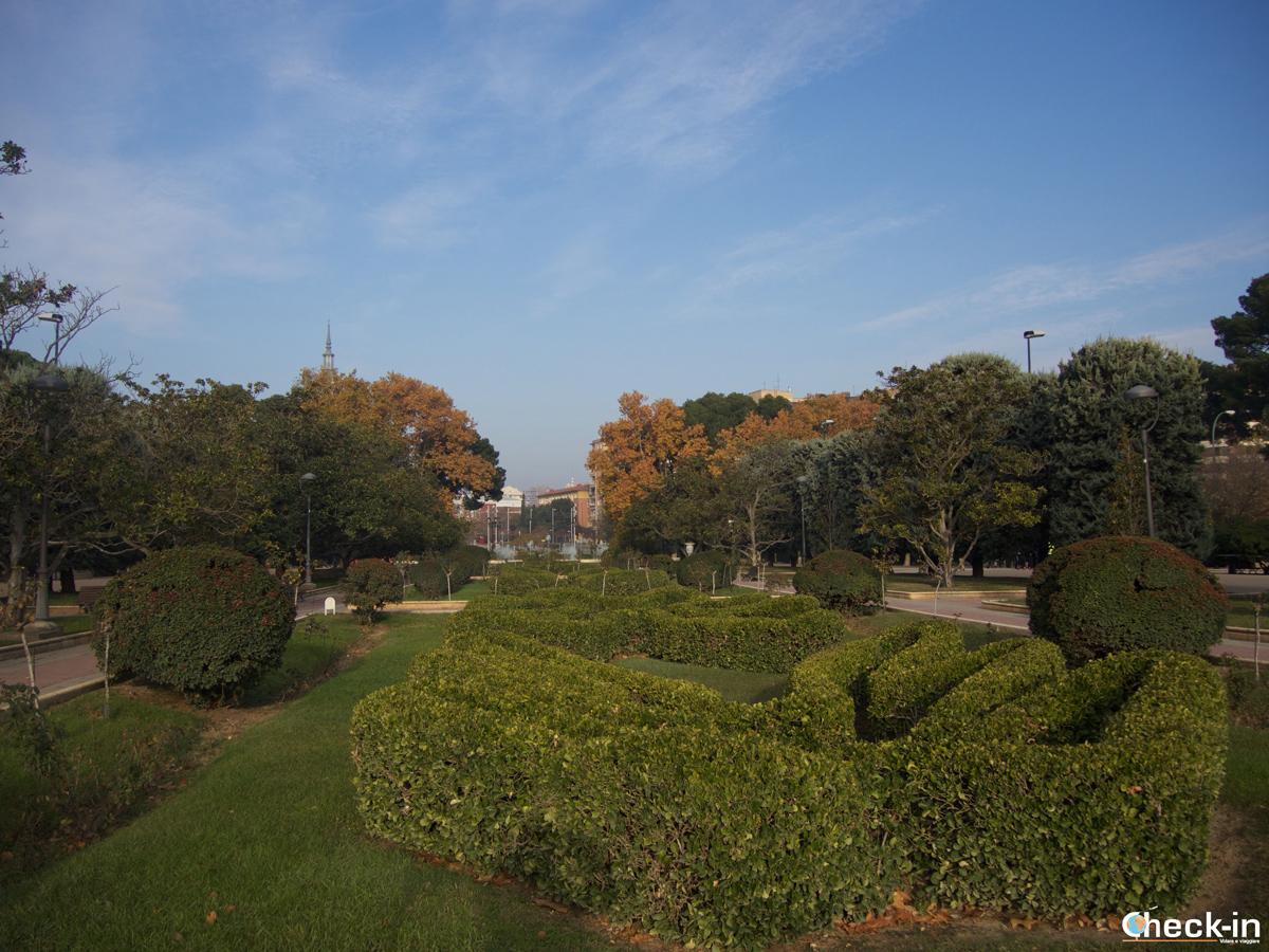 I giardini del Paseo San Sebastián nel Parque Grande di Zaragoza