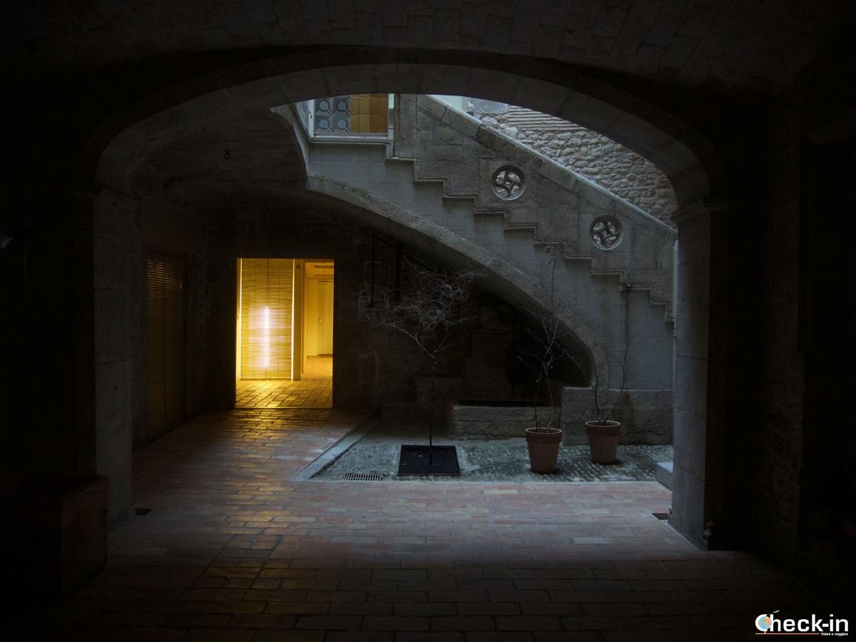 Cortile interno nel quartiere ebraico di Girona