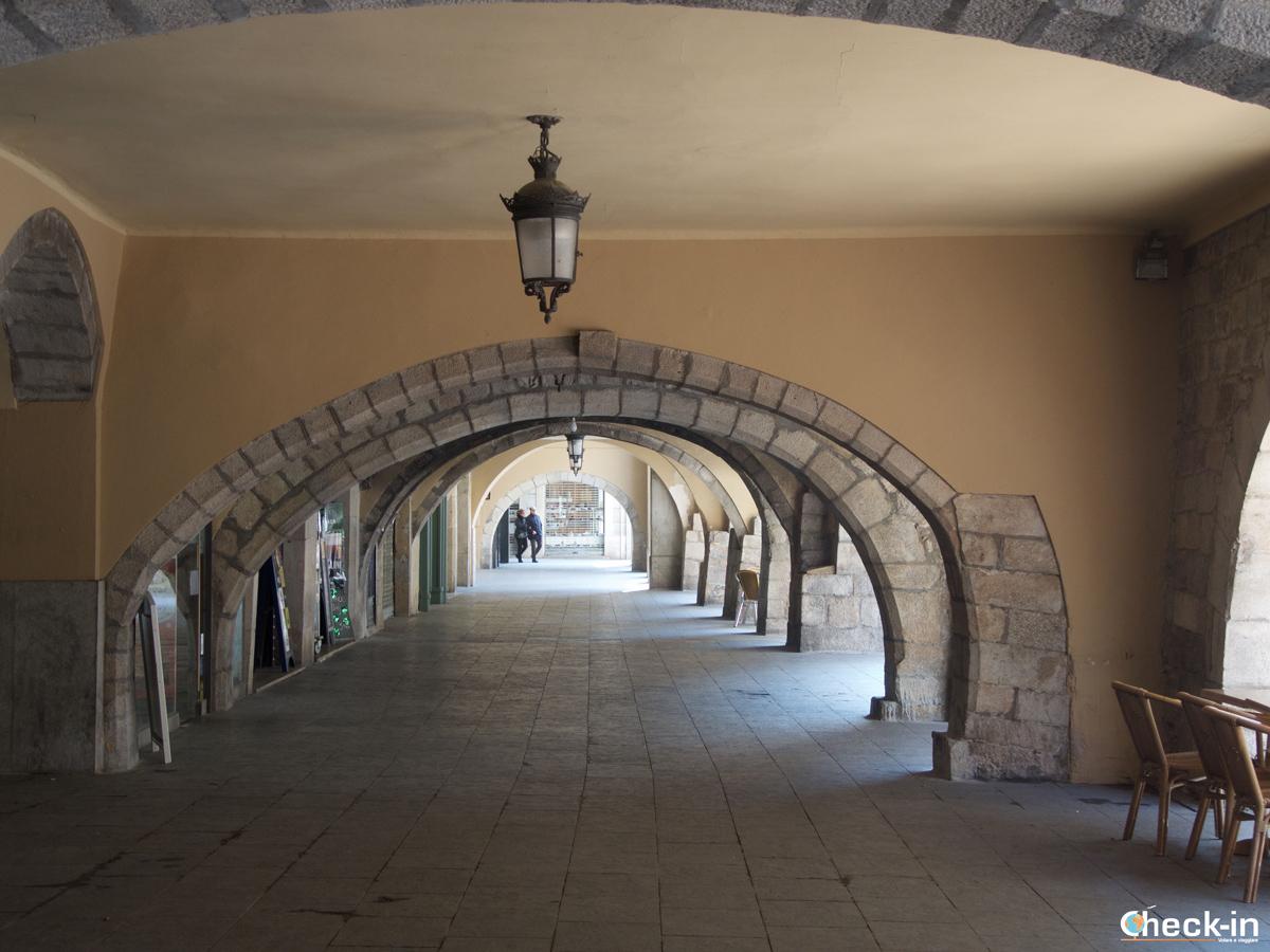 I portici della Rambla de la Llibertat di Girona