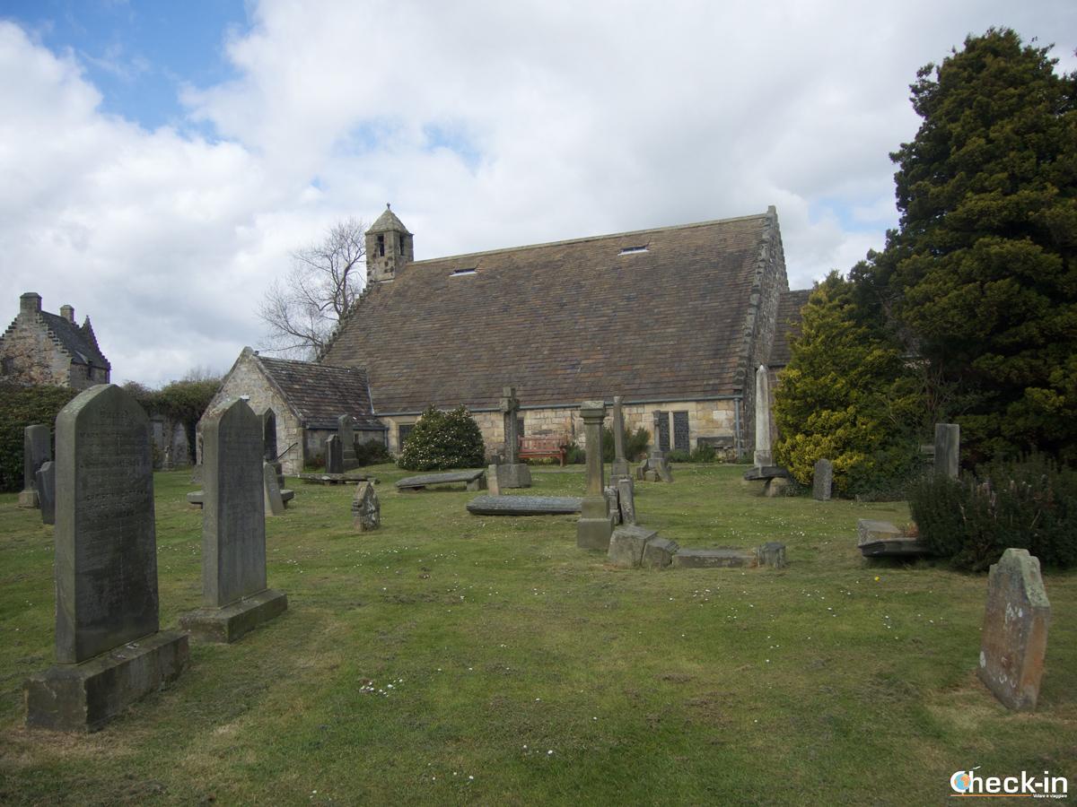 La Sant Fillan's church vicino al Castello di Aberdour