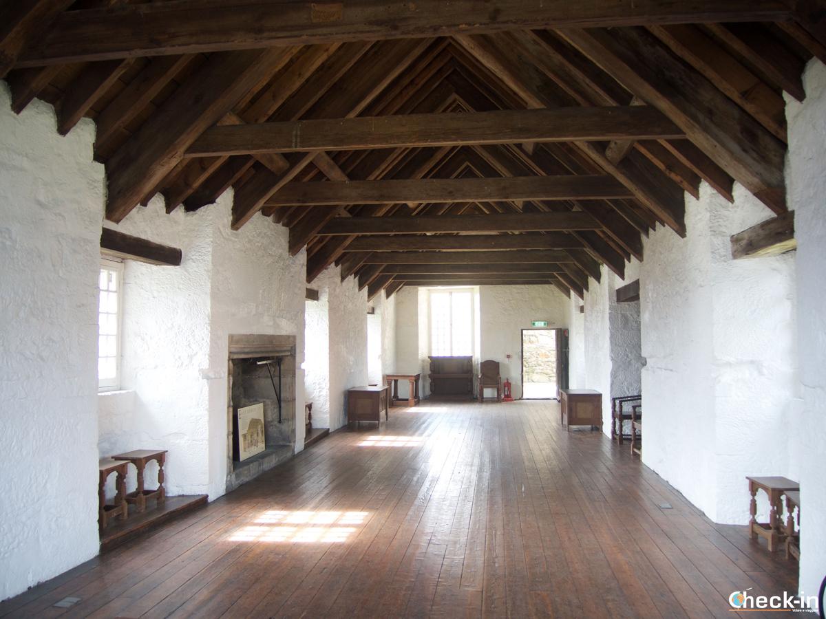 Sala del Castello di Aberdour dove sono state girate scene di Outlander