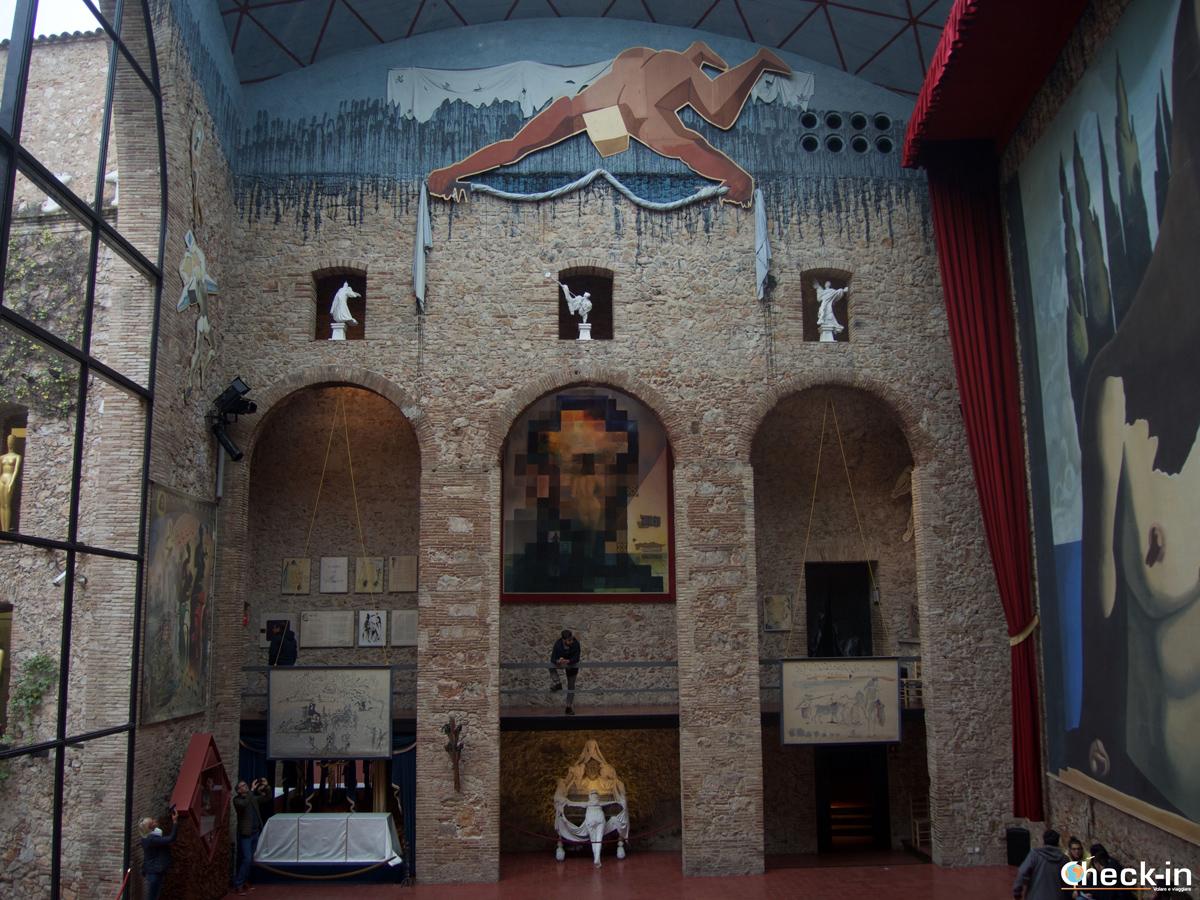 Museo Dalí di Figueres: il quadro Gala-Lincoln