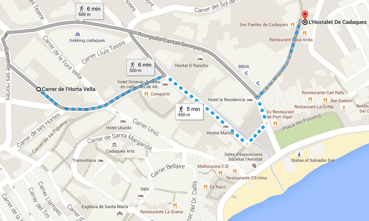 Dove si trova l'Hostalet de Cadaqués