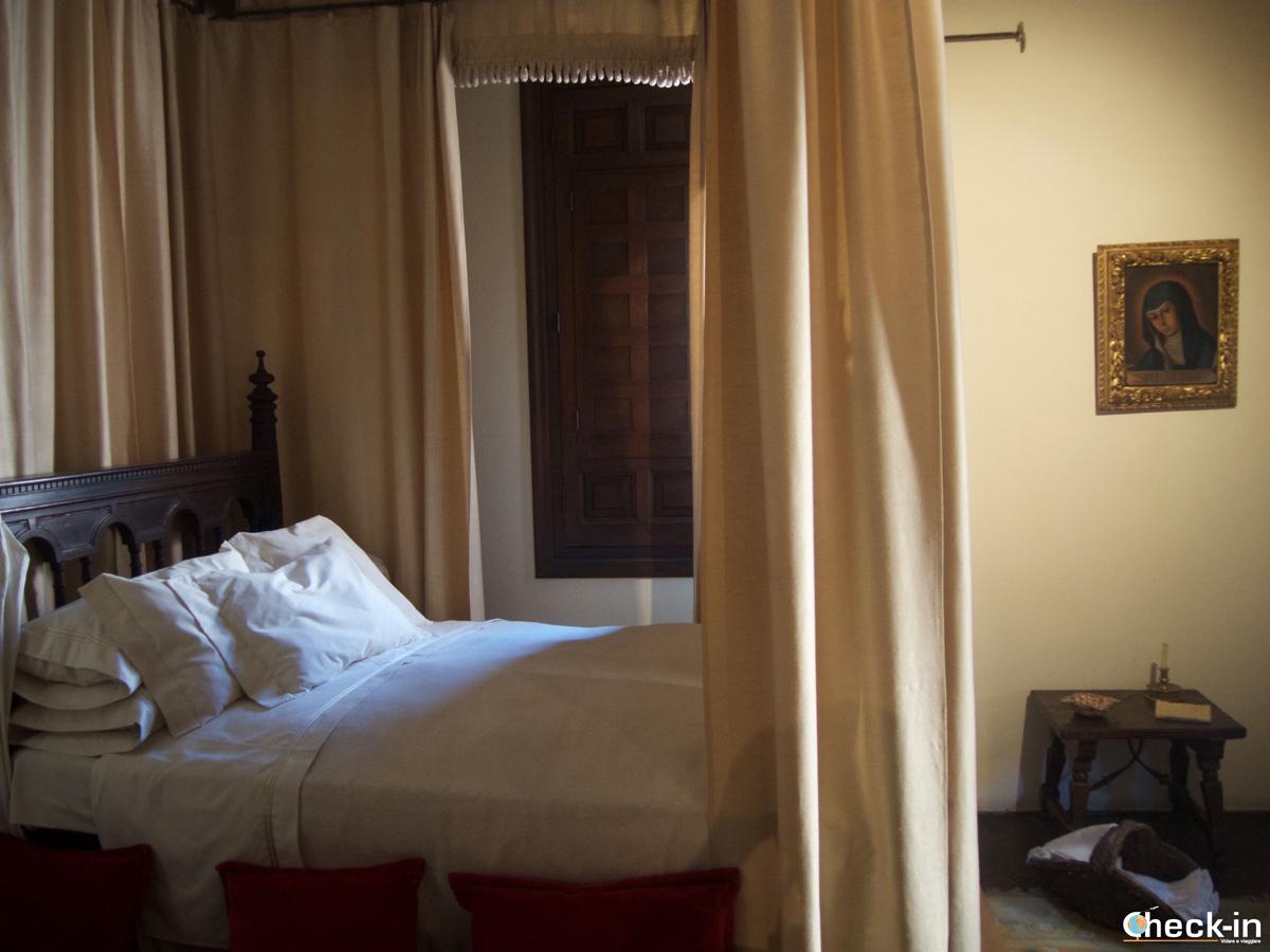 Camera da letto nella casa di Cervantes ad Alcalá de Henares