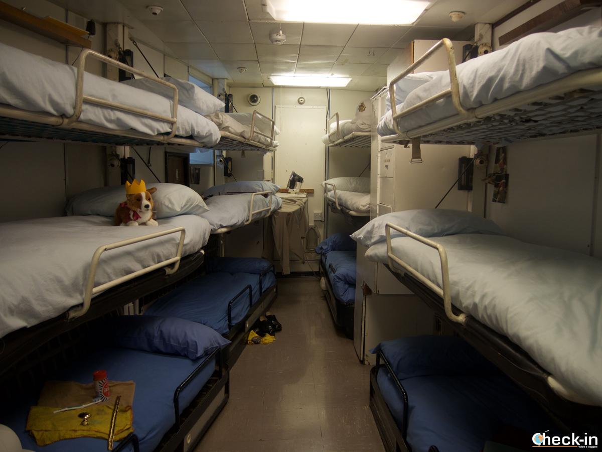 Gli alloggi dei marinai sul Britannia