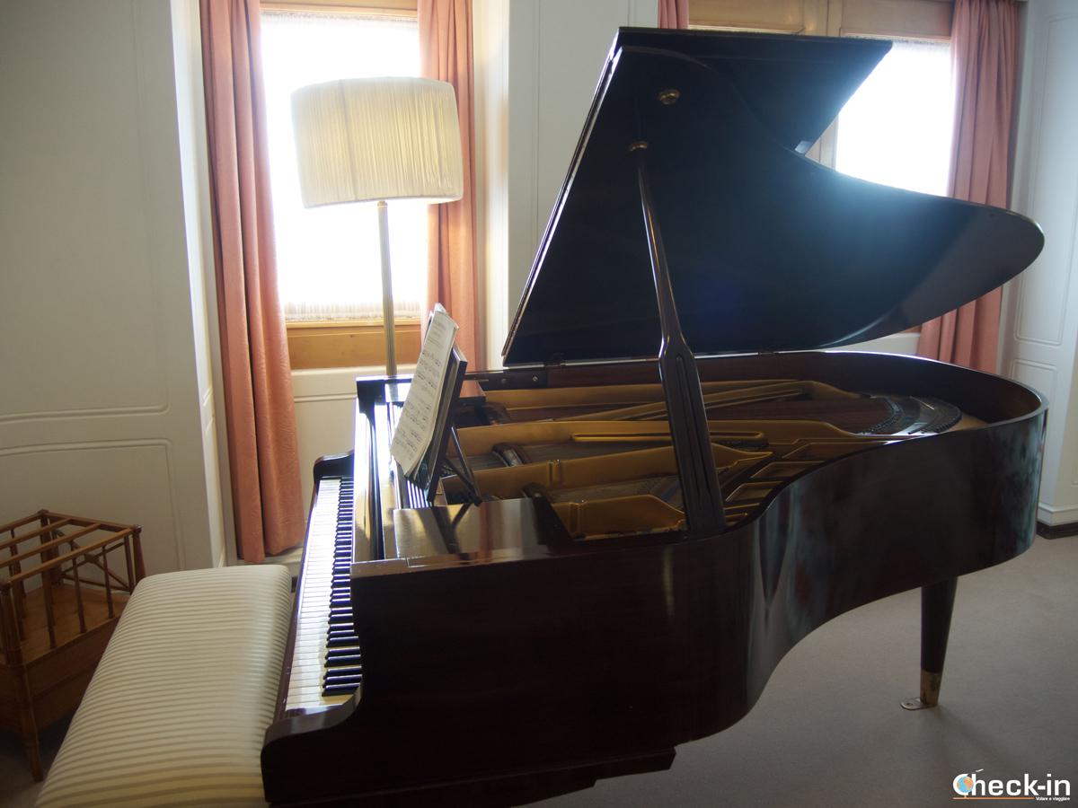 Il pianoforte sul Britannia suonato da Diana