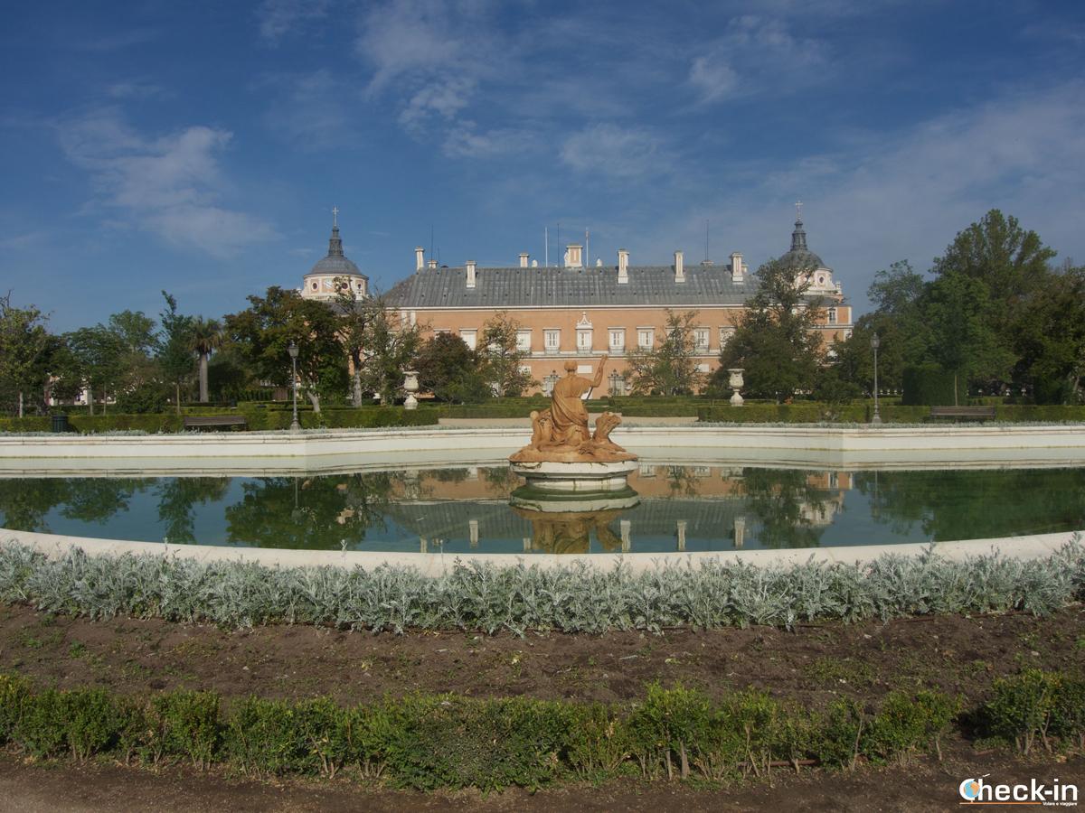 La fuente de Ceres all'interno del Jardín del Parterre di Aranjuez