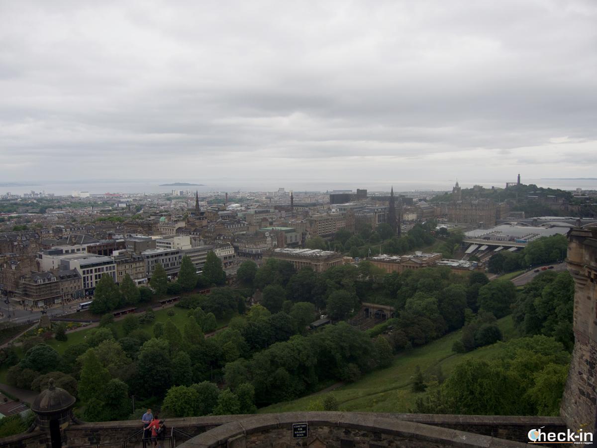 Vista panoramica dal Castello di Edimburgo