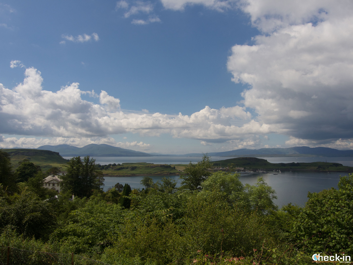 Panorama del Firth of Lorne da Pulpit Hill (Oban)