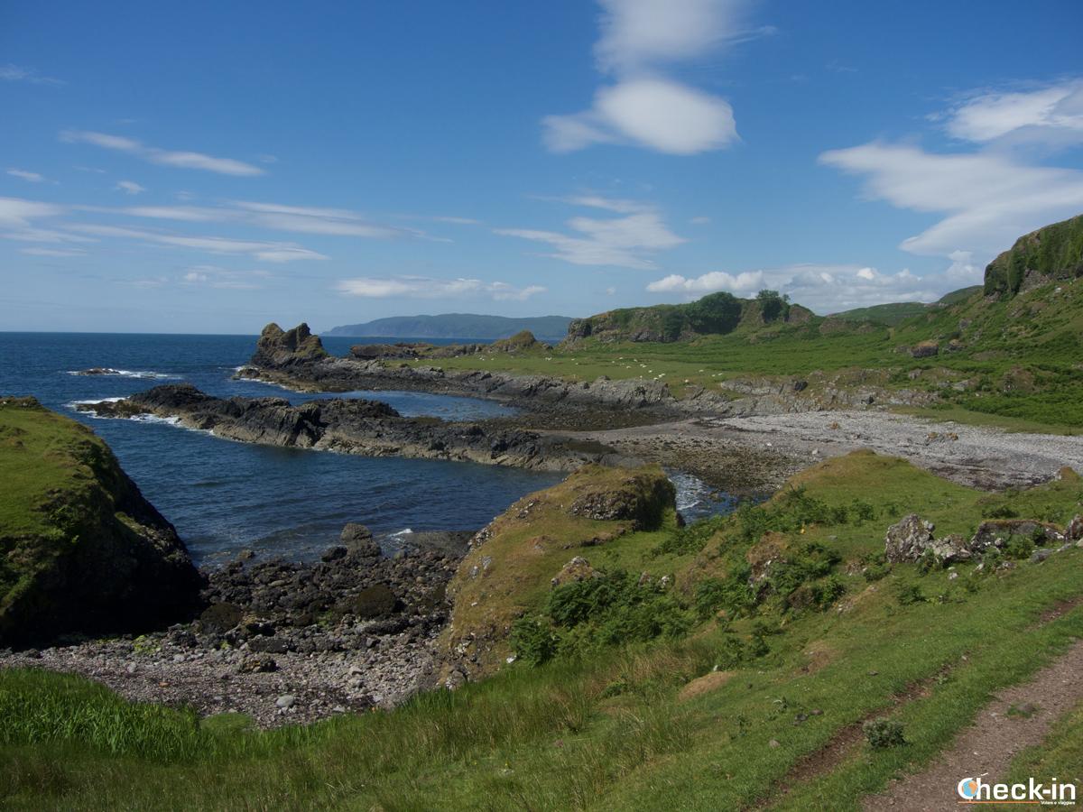 La costa meridionale di Kerrera Island