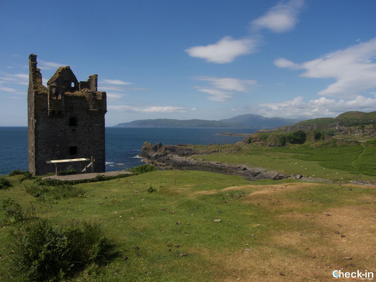 Il promontorio a Kerrera Island dove sorge il Gylen Castle