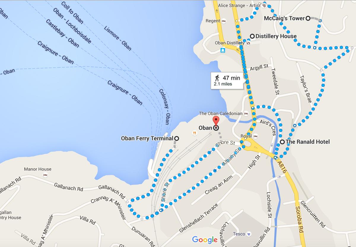 Dove si trova The Ranald Hotel ad Oban