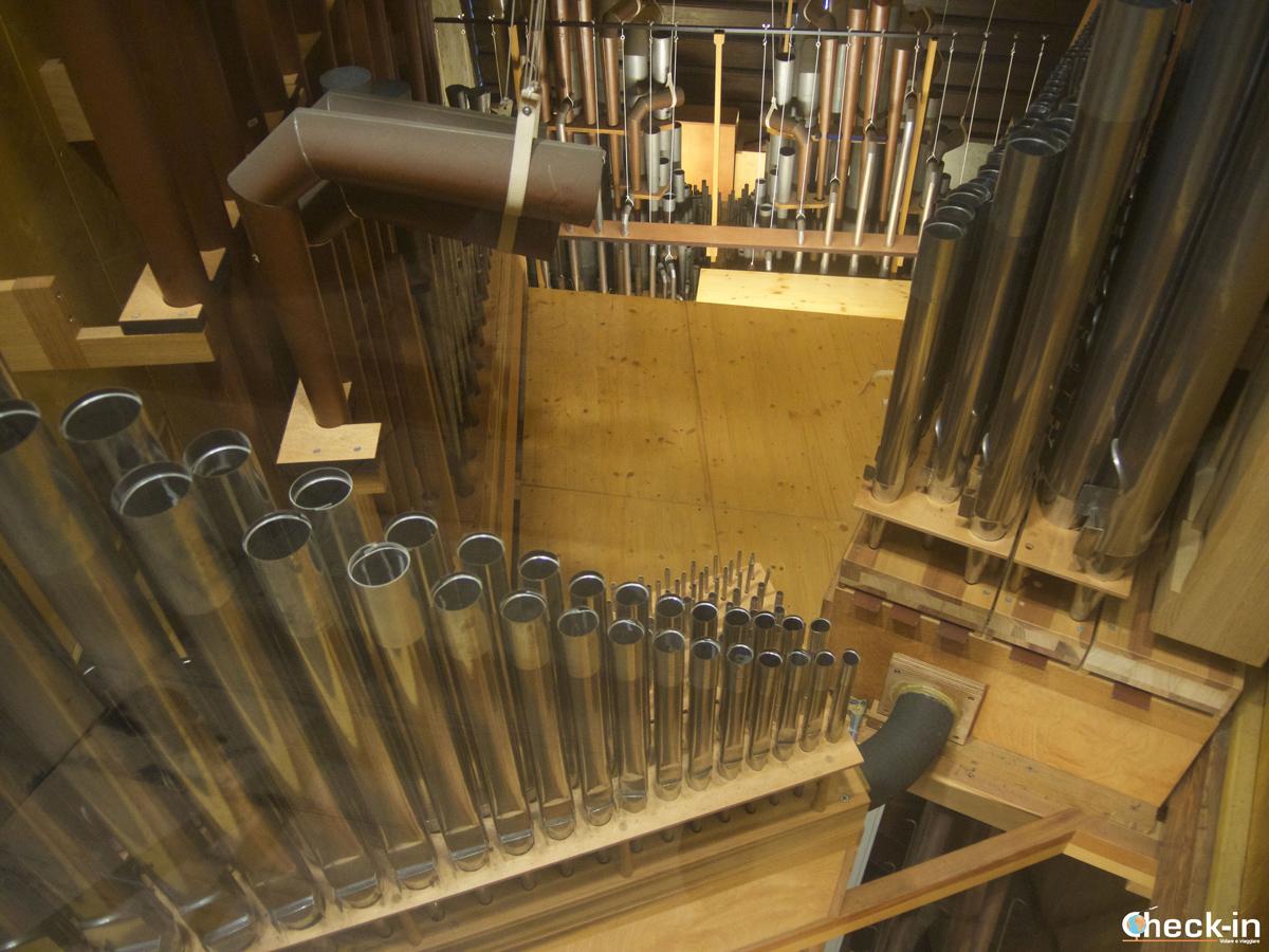 Le 4.307 canne dell'organo nella Fortezza di Kufstein