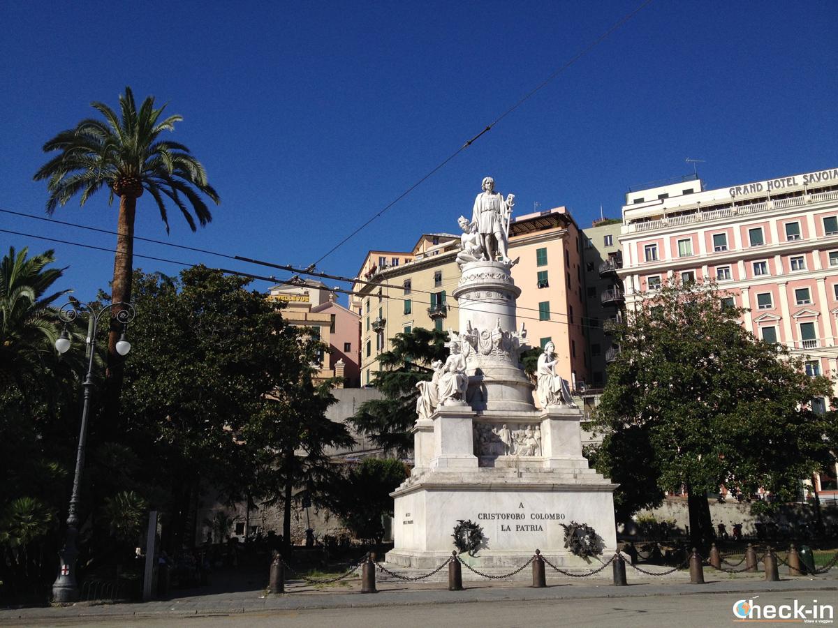 Cosa vedere nel centro storico di Genova: il monumento a Cristoforo Colombo