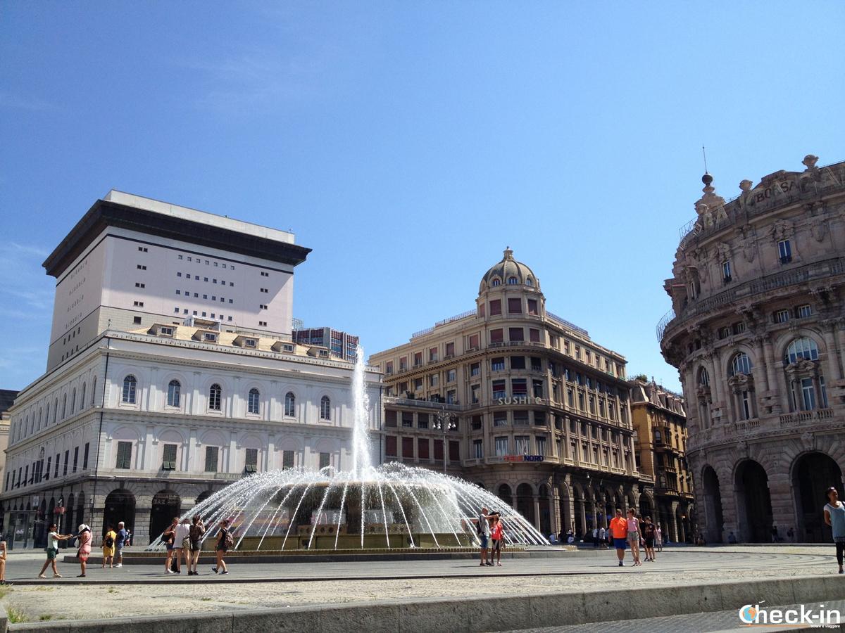 Cosa vedere nel centro storico di Genova: Piazza De Ferrari