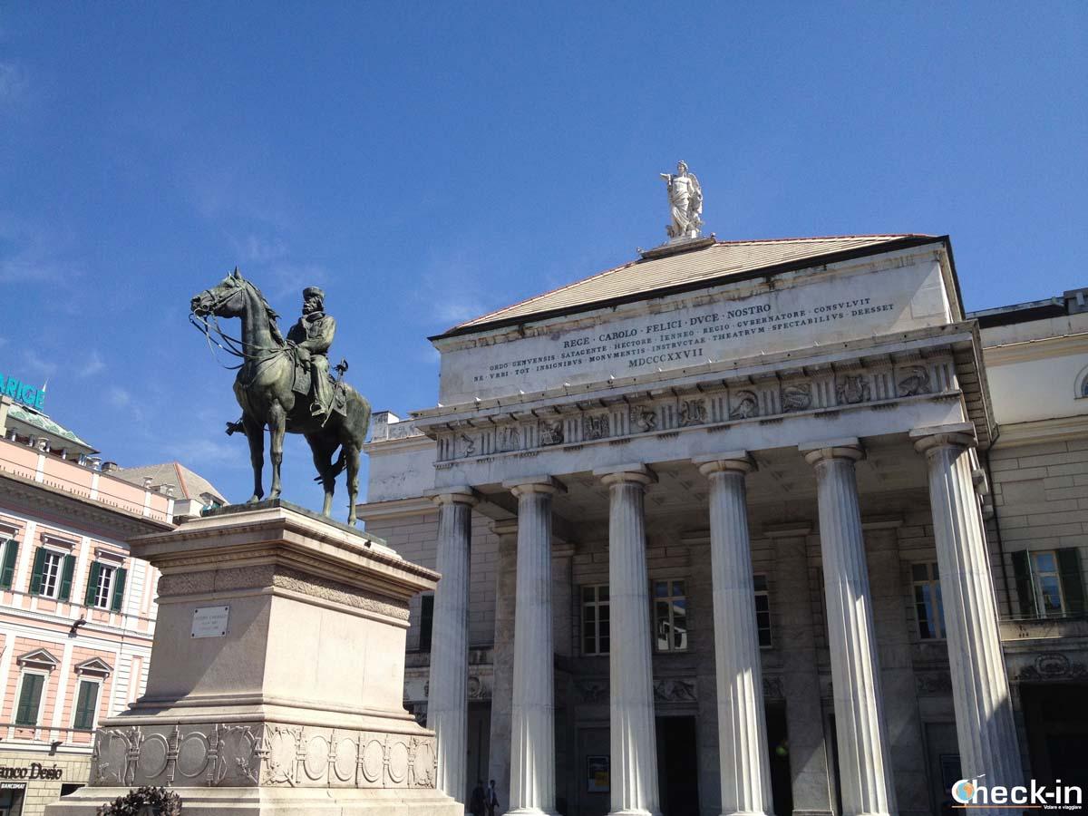 Cosa vedere nel centro storico di Genova: il Teatro Carlo Felice
