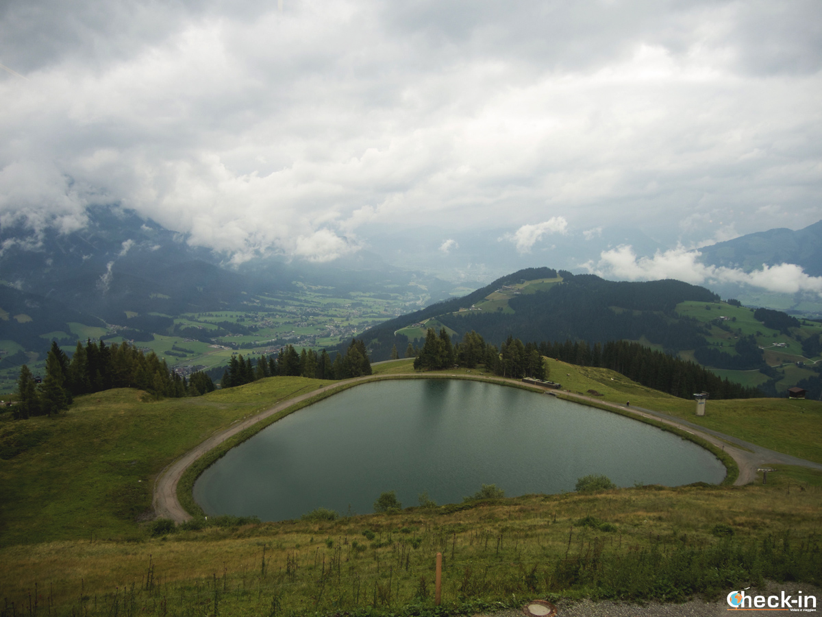 Panorama del Wilder Kaiser dal ristorante dell'Hartkaiser