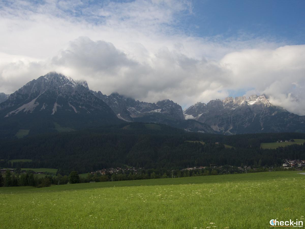 La catena del Wilder Kaiser vista da Ellmau