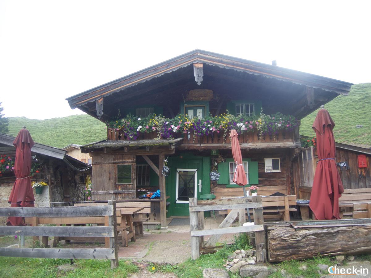 Il rifugio Stöfflhütte al Walleralm