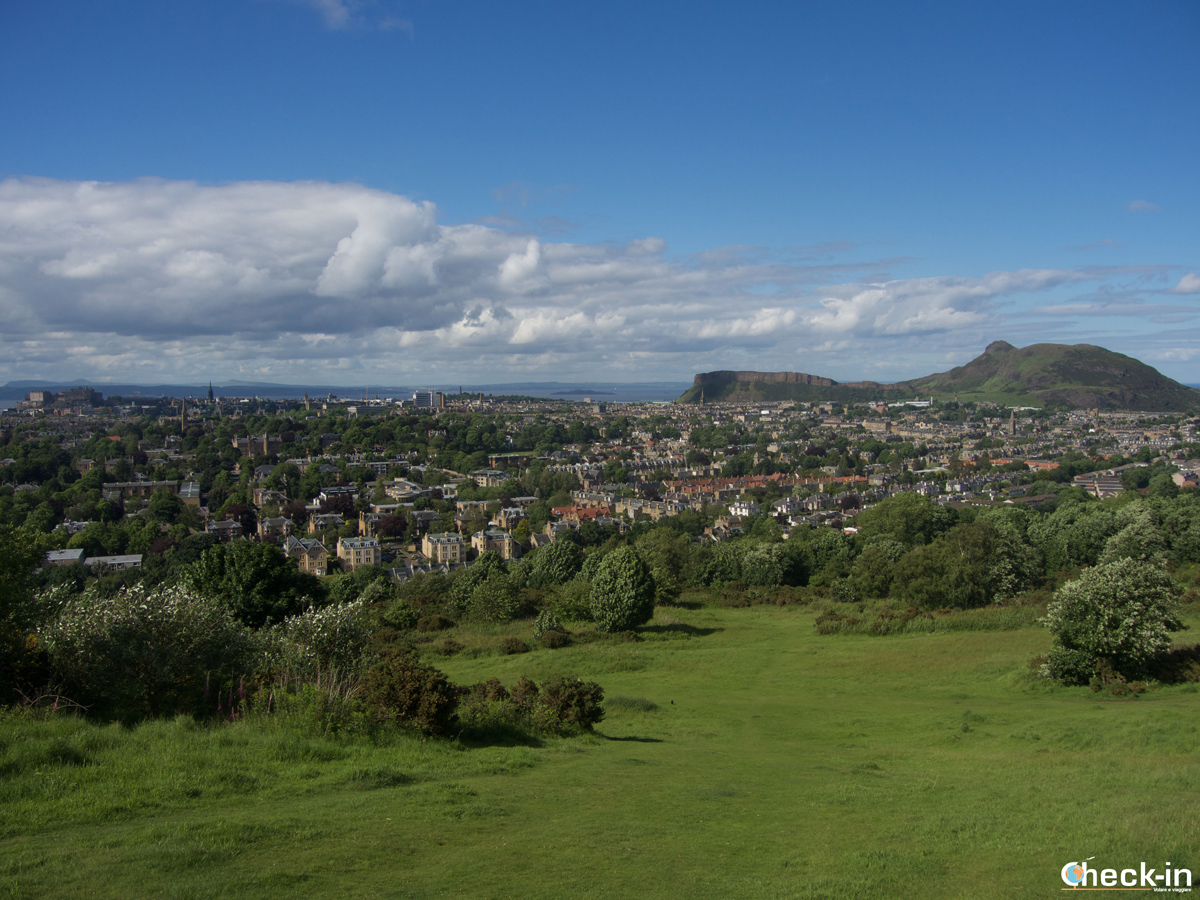 Tour panoramico di Edimburgo in un giorno: vista dalla collina di Blackford Hill