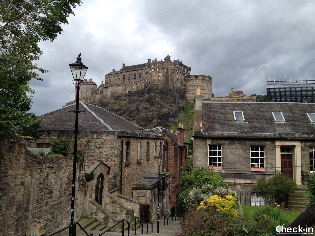 Tour panoramico di Edimburgo in un giorno: il Flodden Wall in Grassmarket ed il Castello di Edimburgo