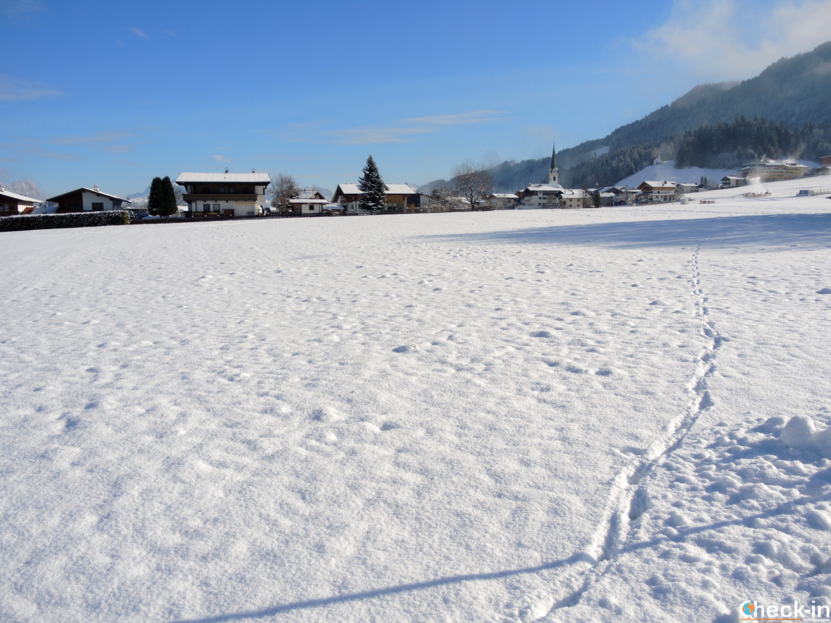 Ellmau innevata - Tirolo, Austria