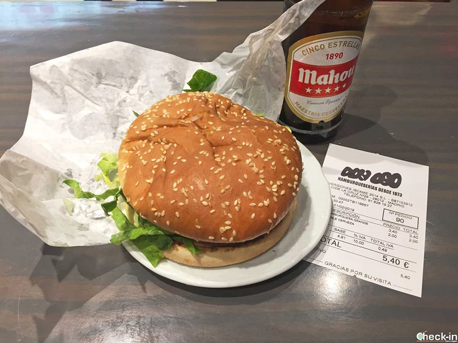 "Dónde comer bien en centro Madrid a precios baratos:""Hamburguesería Don Oso"""