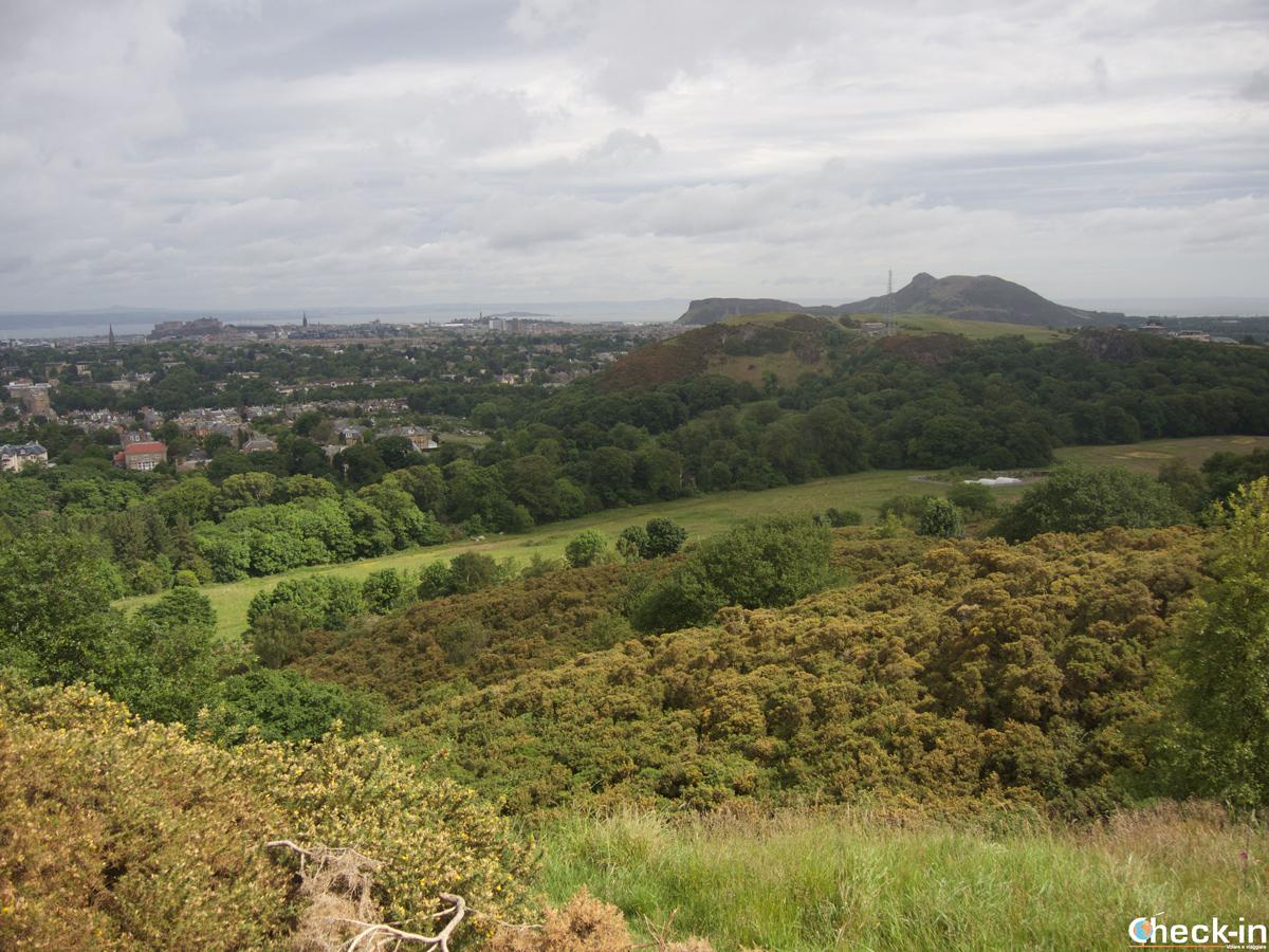 Panorama di Edimburgo dalle Braid Hills, Scozia