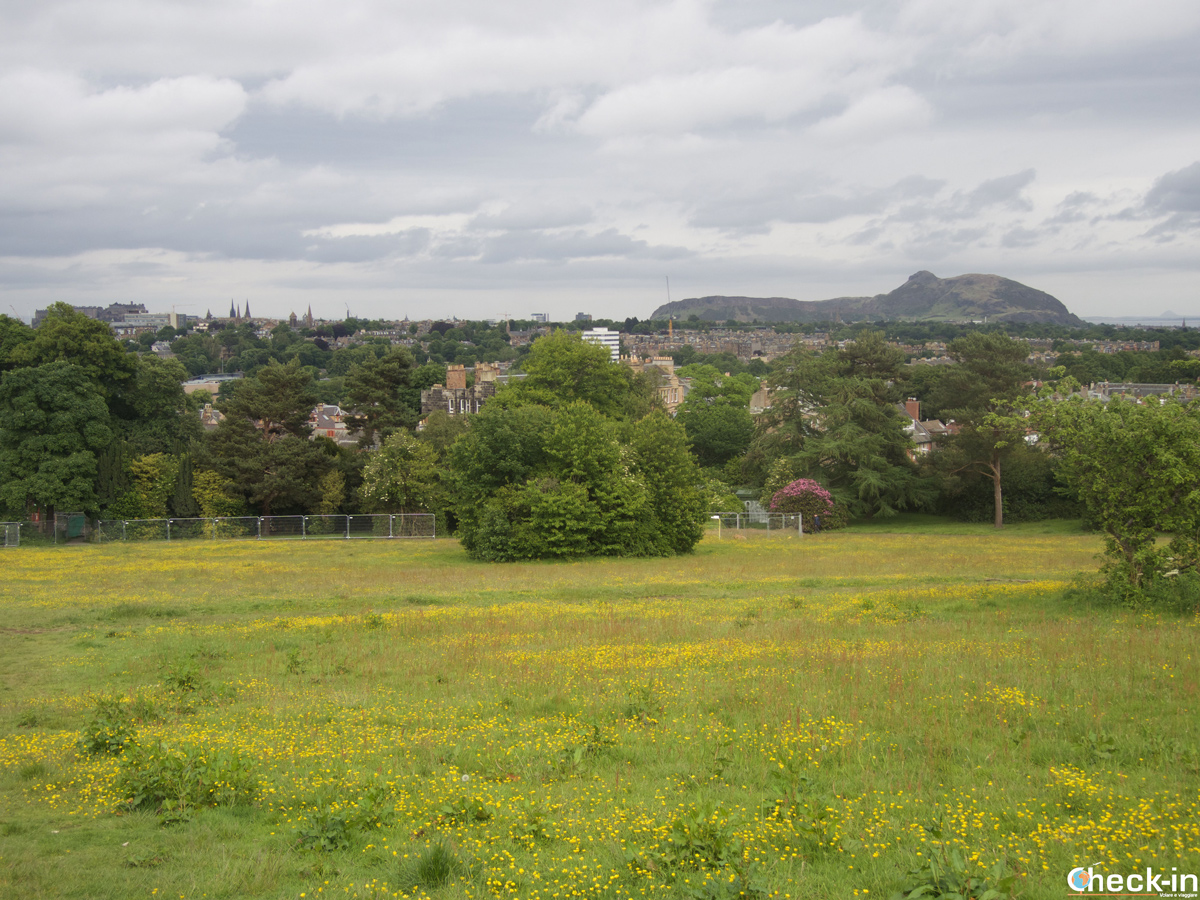Panorama di Edimburgo dalla Easter Craiglockart Hill