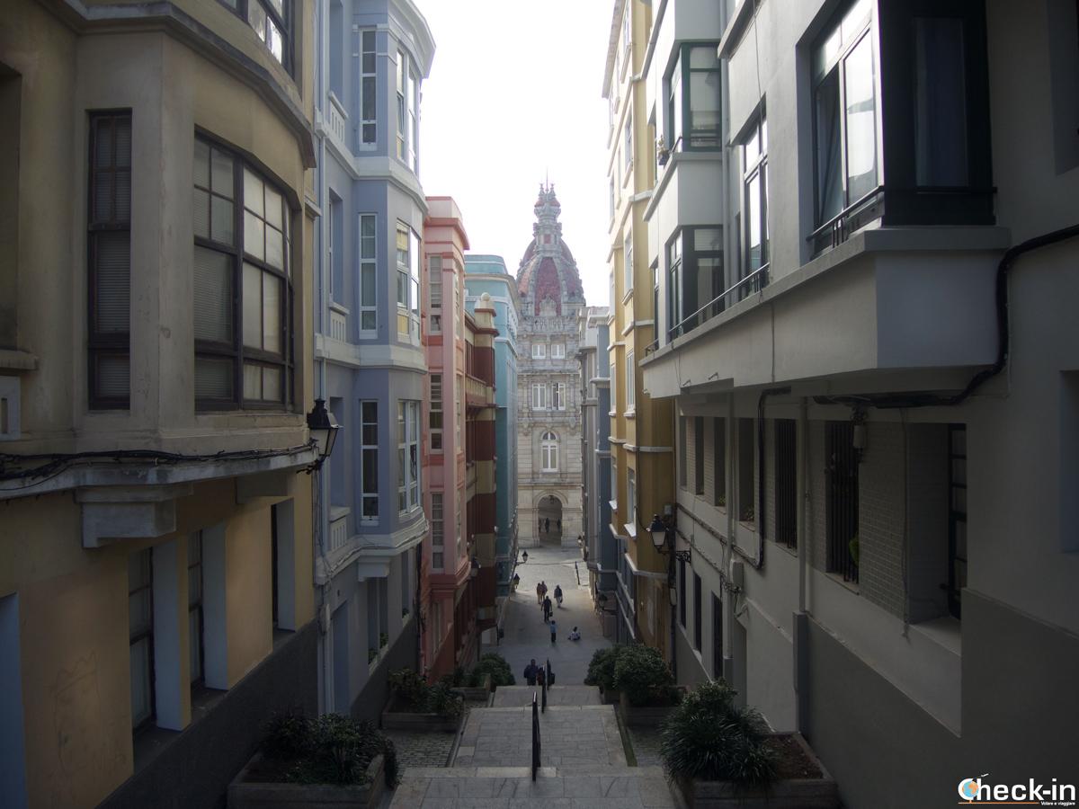 Cosa vedere a La Coruña: scorci della Ciudad Vieja