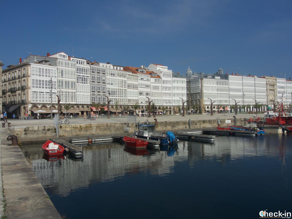 Cosa vedere a La Coruña: La Marina con le galerías