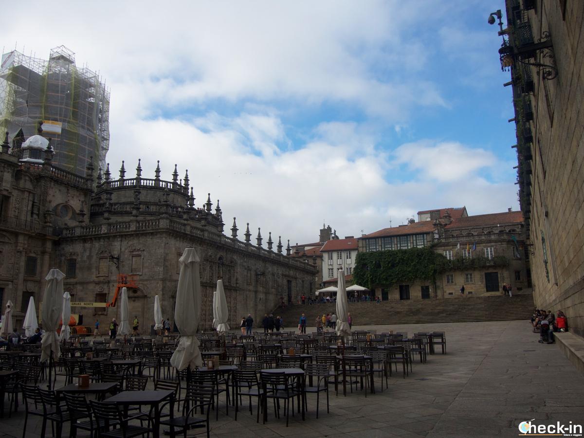 Cosa vedere nel centro storico di Santiago di Compostela: Praza da Quintana