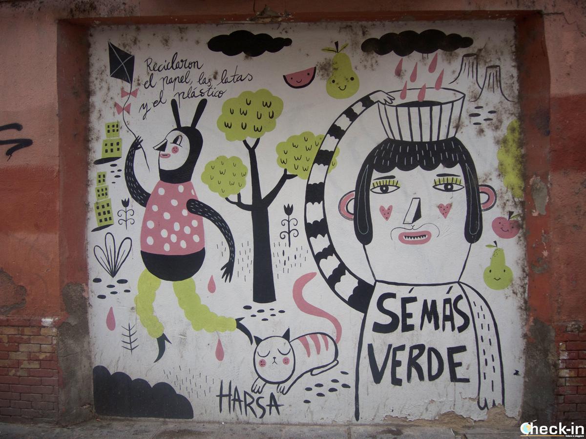 Murales nel centro storico di Saragozza