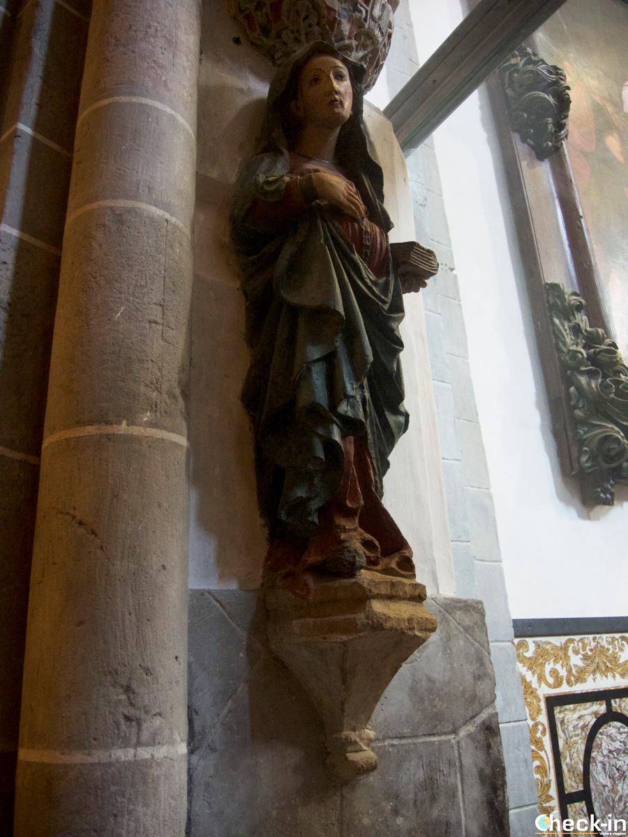 Que hay que ver en la Catedral de Tarazona: la Virgen embarazada