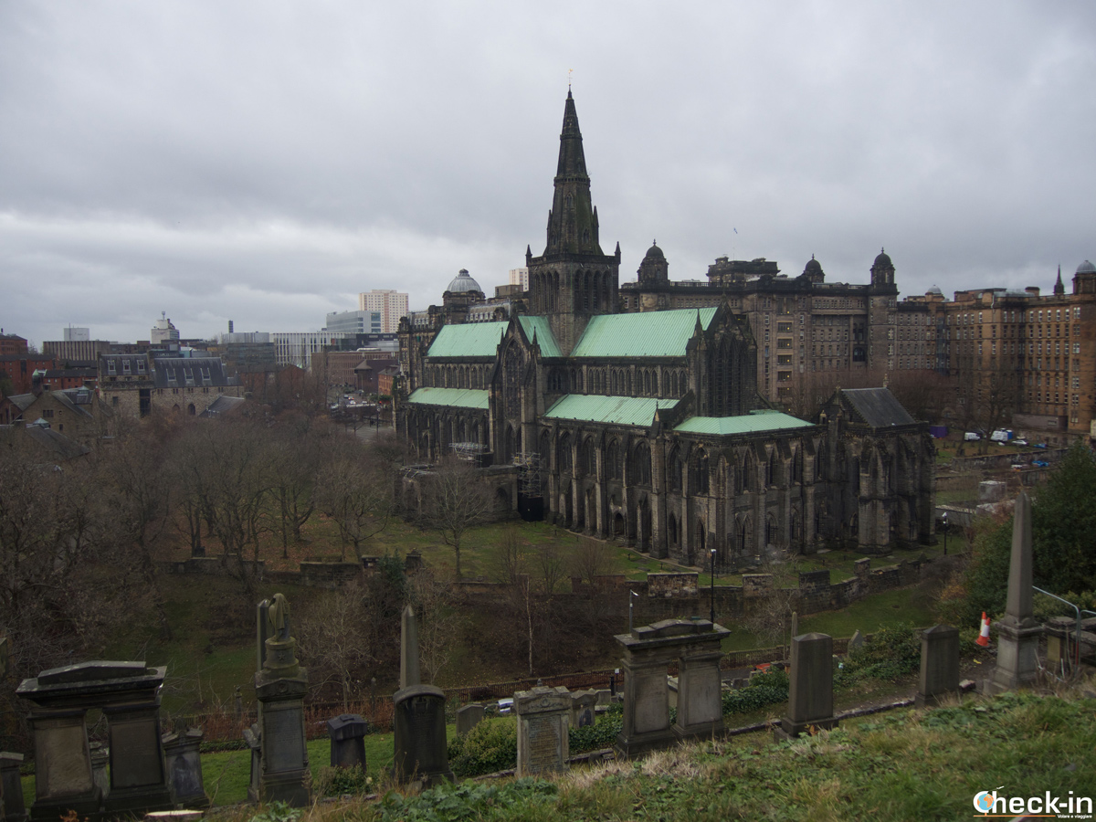 The Glasgow Cathedral as seen from The Necropolis