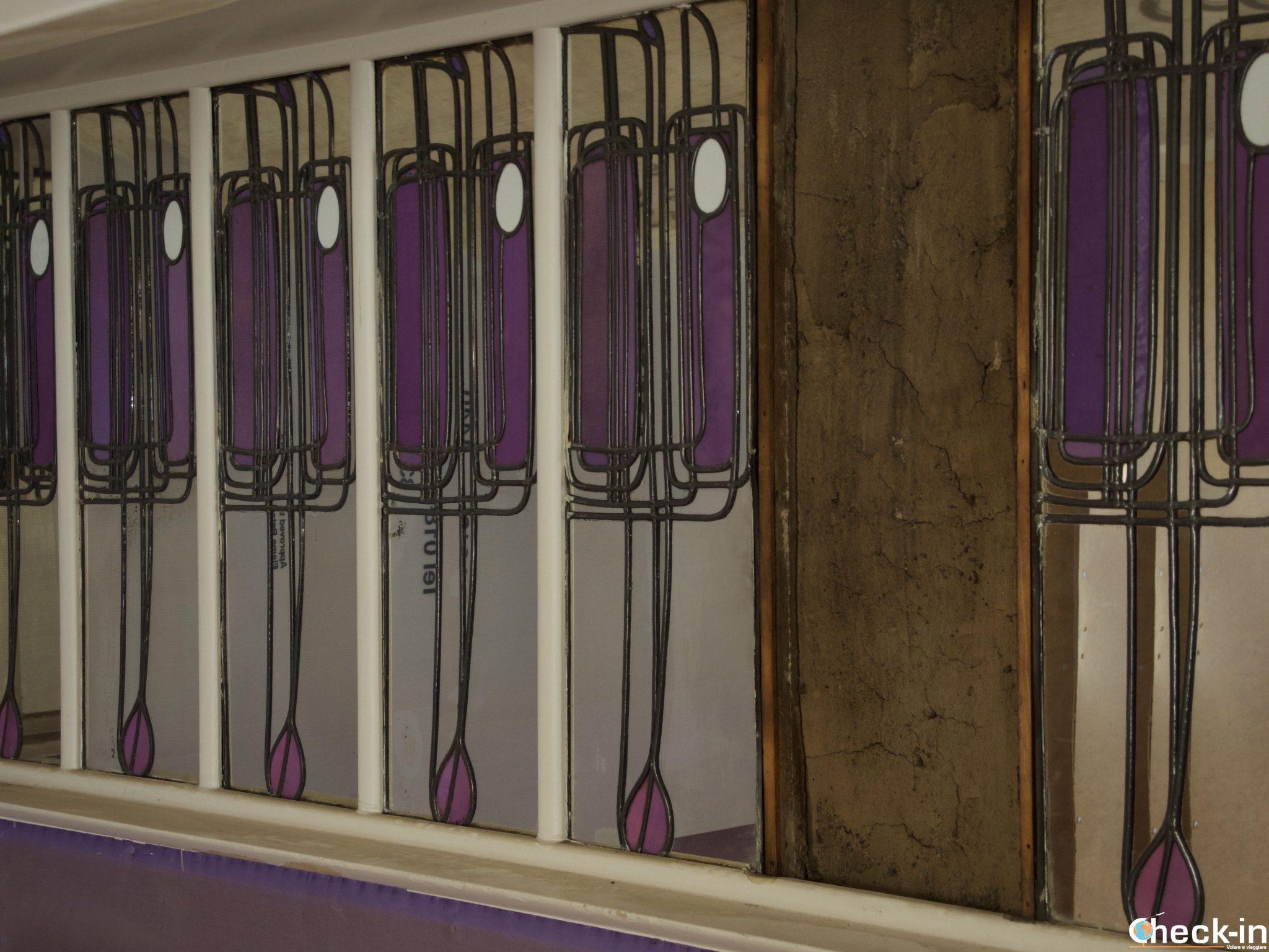 "Le vetrate decorate del ""Mackintosh at the Willow"" di Glasgow"