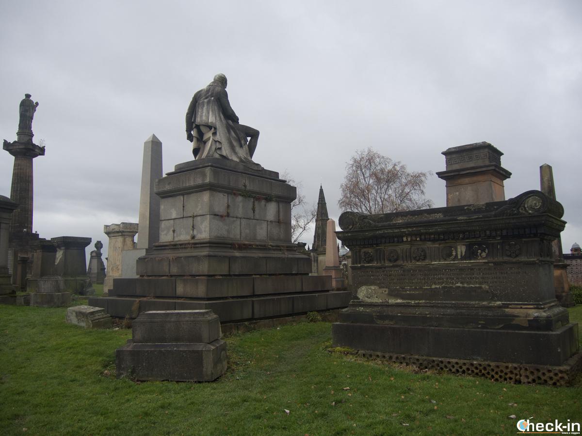 Scorcio della Necropolis di Glasgow