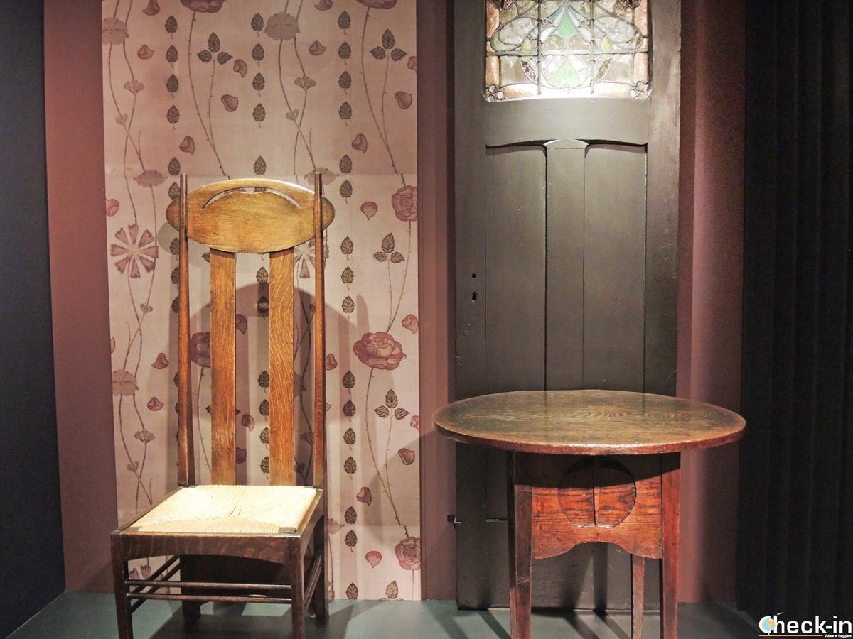 Visita della mostra su Mackintosh al Kelvingrove Museum di Glasgow
