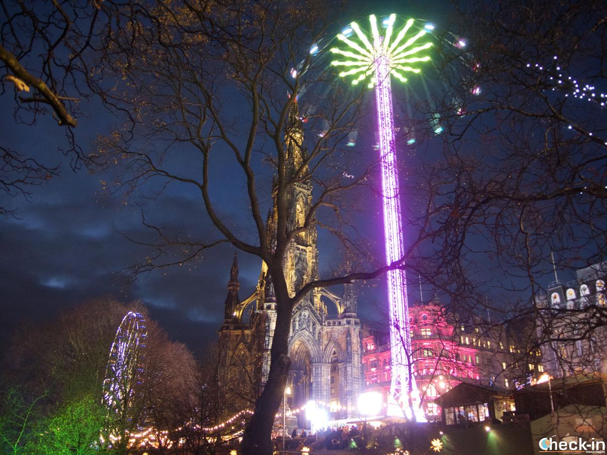 I mercatini di Natale nei Princes Street gardens di Edimburgo