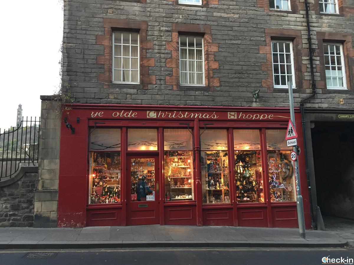 "Natale in Scozia, il ""Ye Olde Christmas Shoppe"""