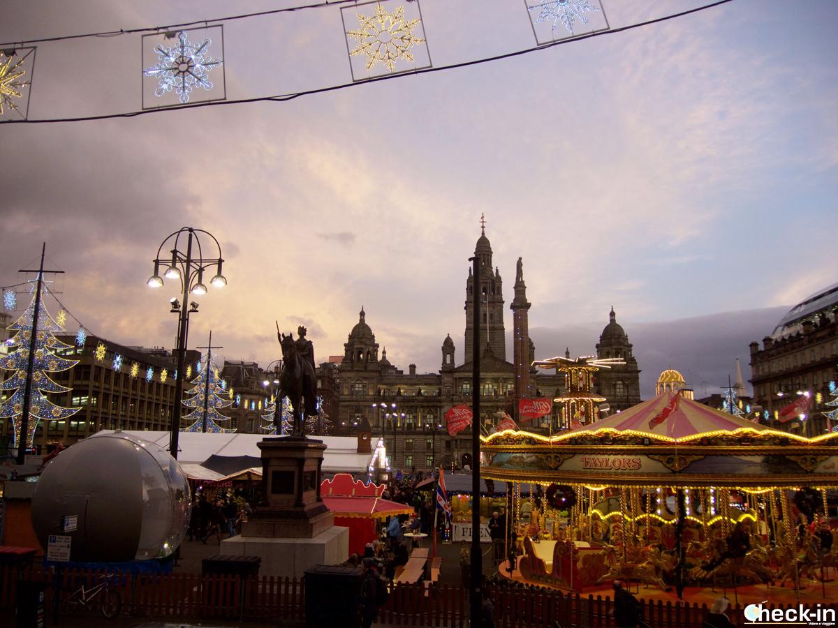 Scozia, i mercatini di Natale a Glasgow in George Square