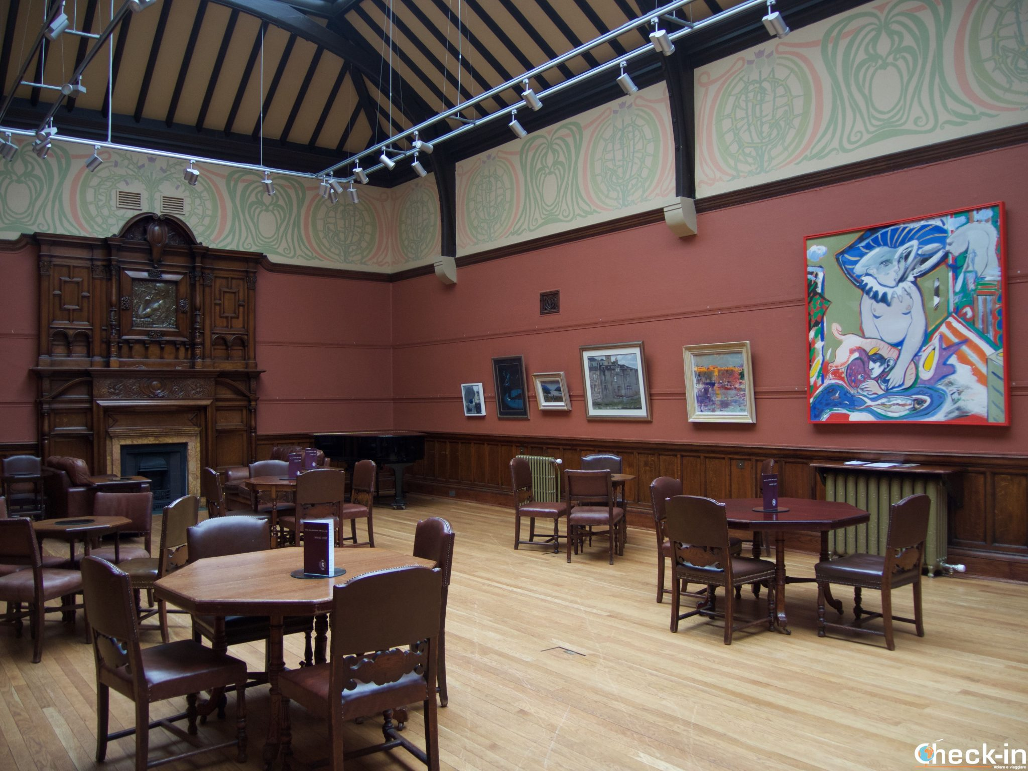 "The ""long Room"" inside the Glasgow Art Club"