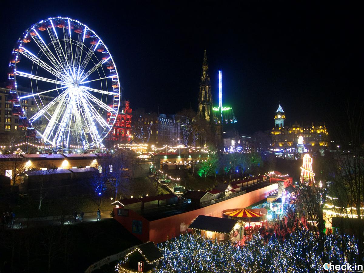 Capodanno a Edimburgo: mercatini di Natale in Princes Street