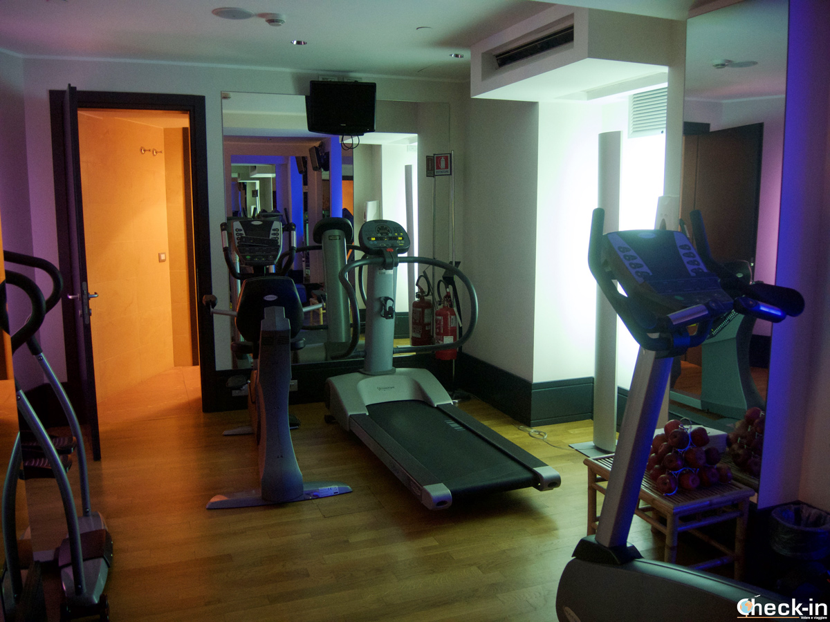 L'area fitness del Grand Hotel Savoia di Genova