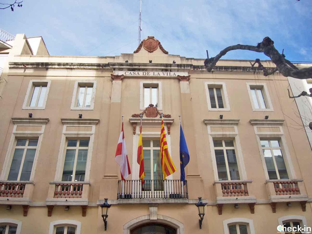 L'entrata del Municipio di Blanes da Passeig de Dintre