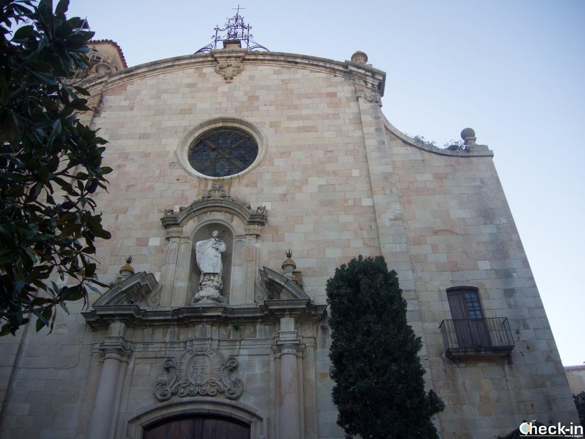 La Iglesia de San Vicente a Tossa de Mar, Spagna