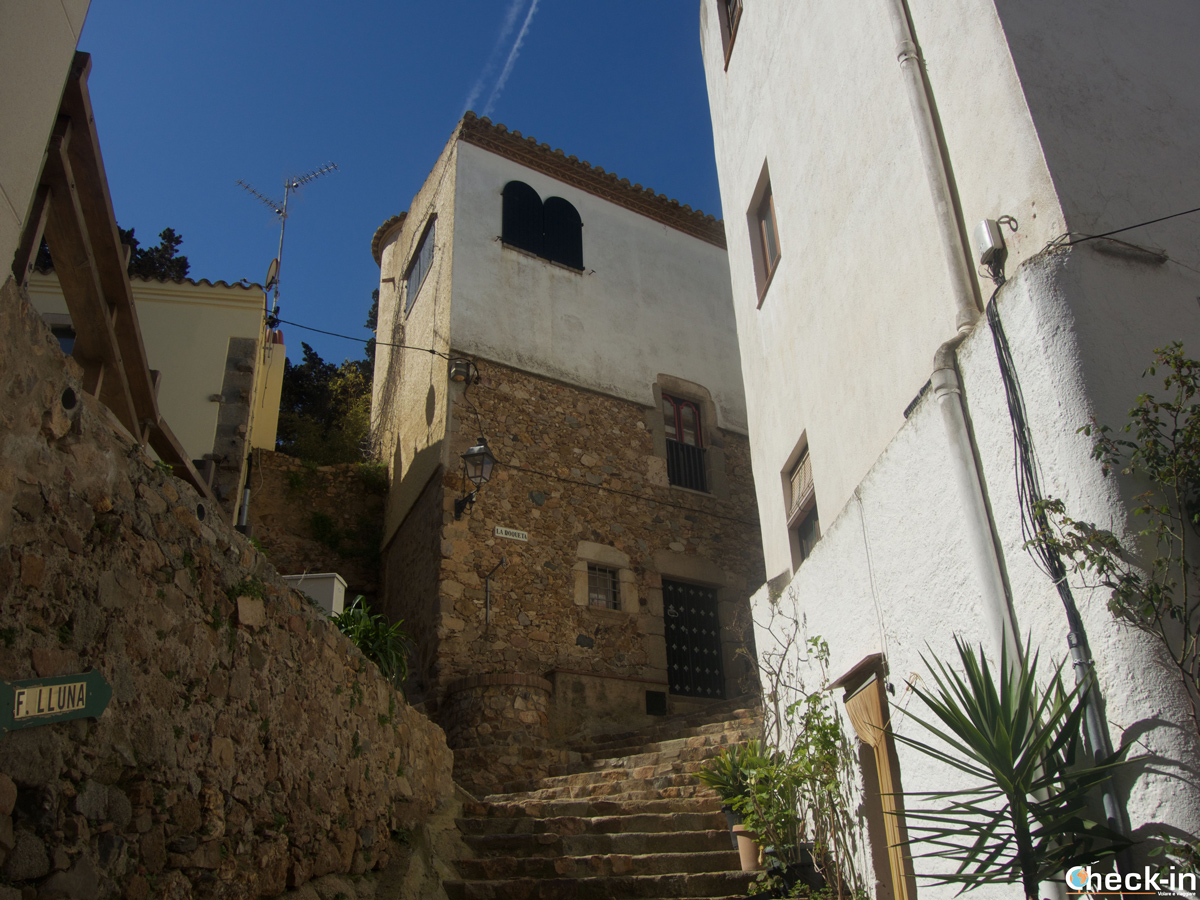 Il barrio Sa Roqueta di Tossa de Mar, Spagna