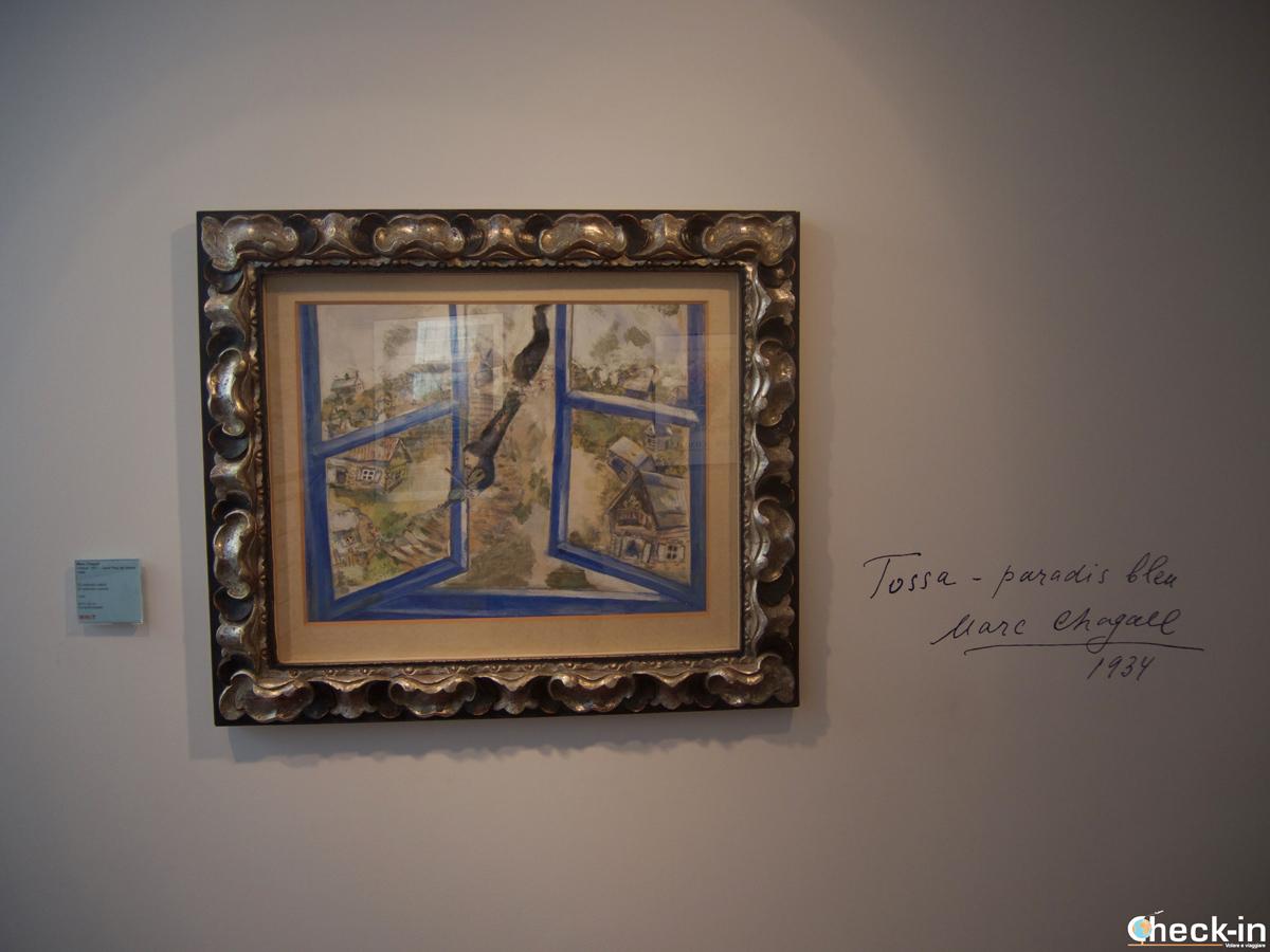 La sezione dedicata a Chagall nel Museo Municipal di Tossa de Mar, Spagna