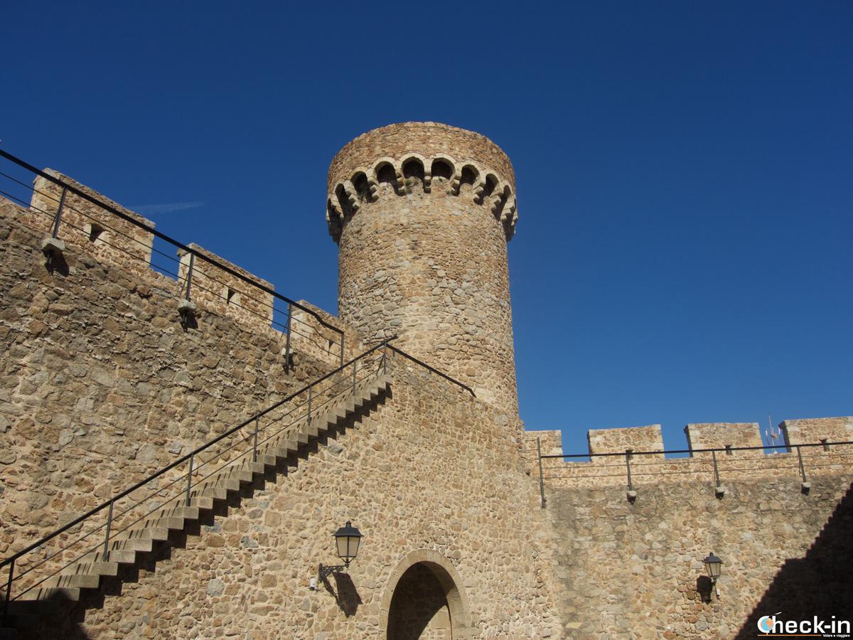 La Torre de las horas nella Vila Vella di Tossa de Mar, Spagna
