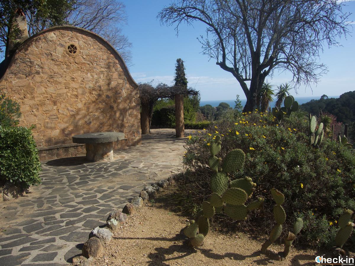 Terrazza panoramica sul giardino Pinya de Rosa di Blanes, Costa Brava